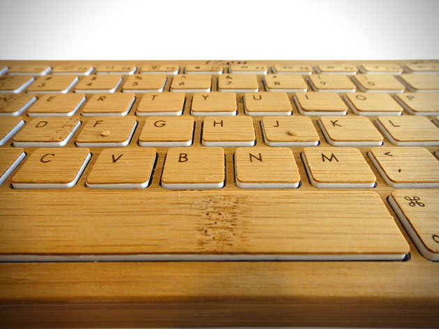3 izen wireless bamboo keyboard iZen Wireless Bamboo Keyboard