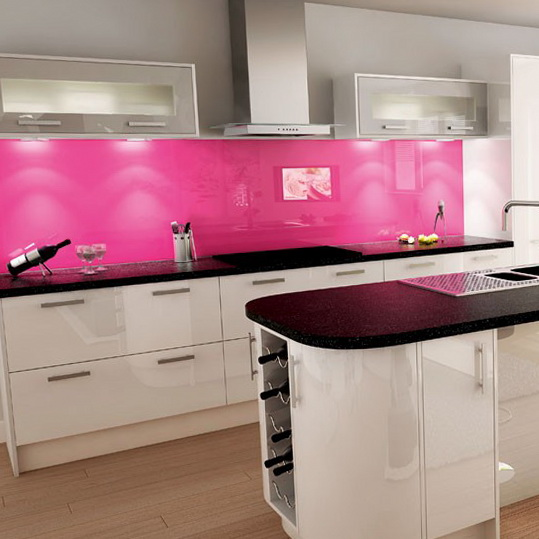 6 colour schemes ideas for kitchen Pink and white kitchen Colour Schemes Ideas for Kitchen