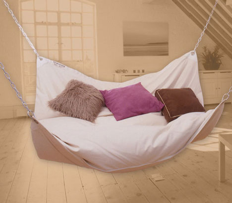 Indoor hammock bed Innovative Bed Designs