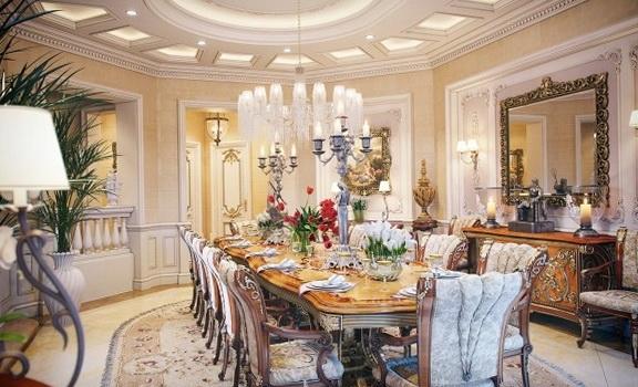 The interior a luxury villa in Qatar  Home Interior