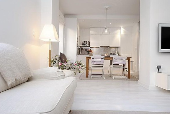 Snow White Scandinavian Style In The Interior Home Interior Design Kitchen And Bathroom
