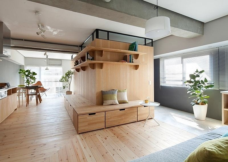 Unusual L Shaped Apartment With No Doors In Japan Home Interior