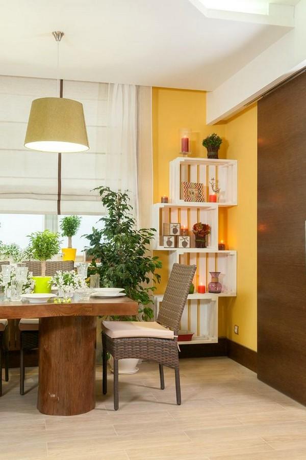 Naturalistic YellowandGreen Living Room with Summer Mood
