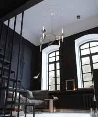 Tiny Monochrome Black-Walled Apartment with Mezzanine ...