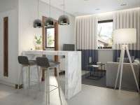 Functional Scandinavian-Style Apartment in White, Gray ...