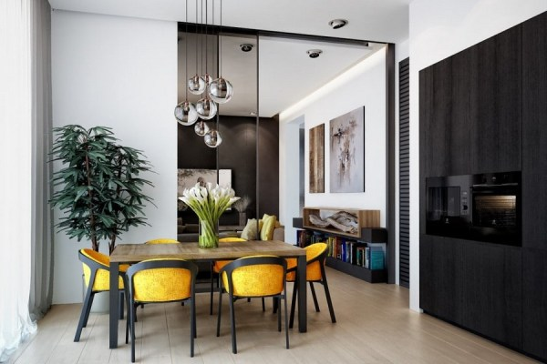 scandinavian interior design kitchen white Big Eco-Minimalist House with Scandinavian Spirit | Home