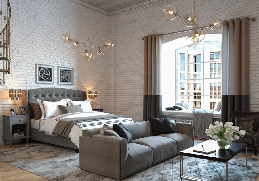 Loft Studio Apartment with Mezzanine  Gorgeous Library