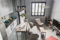 Tiny Studio Apartment with Loft Bed for a Single Woman in ...