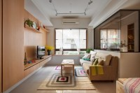Minuet: Neutral Functional Small Apartment with Cheerful ...