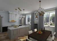 Light & Sunny Moderate-Art-Dco Apartment in Blue Shades ...