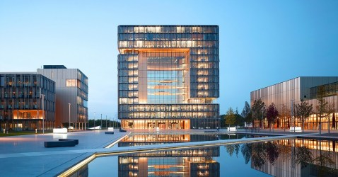 building architecture germany office biomimicry modern homeostatic glass innovative muscles mammals essen inspired cobweb impressive facade samples project most