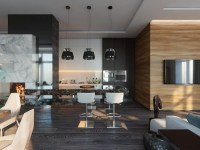 Gorgeous Open-Concept Living Room in Contemporary Style ...