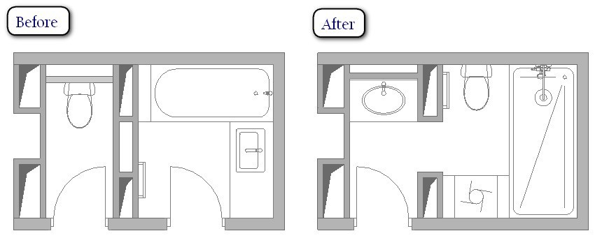 5 Ideas of Creating WC-and-Bathroom Combos: Before & After