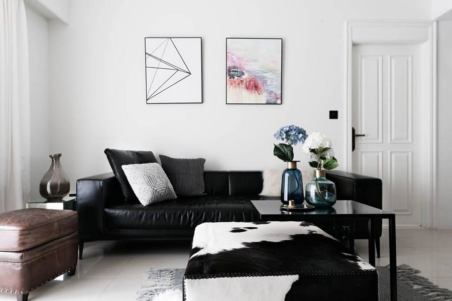 decorating living room dark brown leather sofa china hutch in home amore project: french & scandinavian style mix | ...