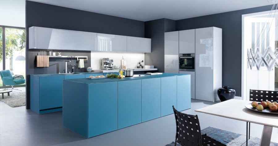 kitchen cabinets set aid double oven 20 trendy blue sets in interior design home 1 leicht germany