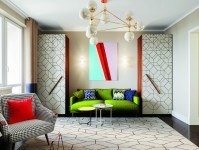 Bright Multicolor Apartment in Mid-Century Modern Style ...