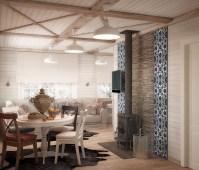 Dream Country House Interior in Scandinavian & English