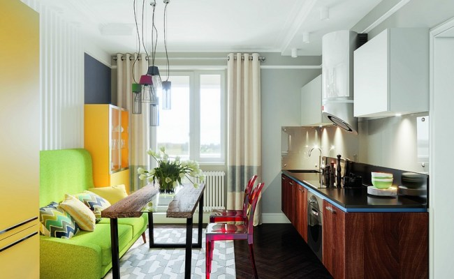 Bright Multicolor Apartment In Mid Century Modern Style
