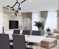 Relaxing Contemporary-Style Family Apartment in Beige ...