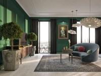 96+ Living Room With Dark Green Walls - Fantastic Best ...