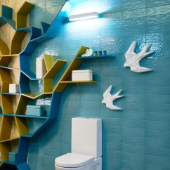 "Axor Kitchen Faucet Mirrors ""owl's Nest"": Creative And Super Positive Bathroom ..."