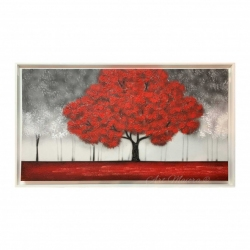 Quadro moderno 5 pezzi in legno vogue 48x85 cm passione quadri lupia. Quadro Per Soggiorno Con Paesaggio Moderno Incanto Rosso 130x70 Art Maiora Home Lamp