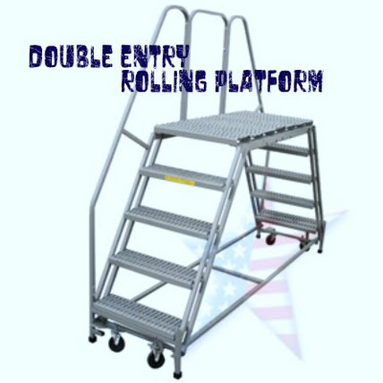 stacking rolling chairs folding chair fabric padded double stairwayr, 5-step $865