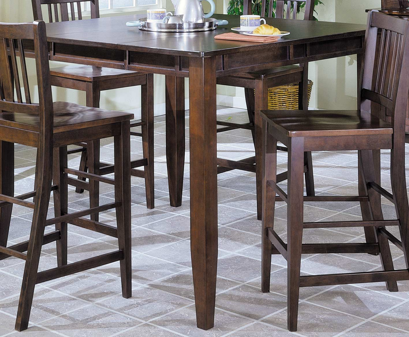 Pub Table With Chairs Homelegance Market Square Pub Dining Table Wth Butterfly