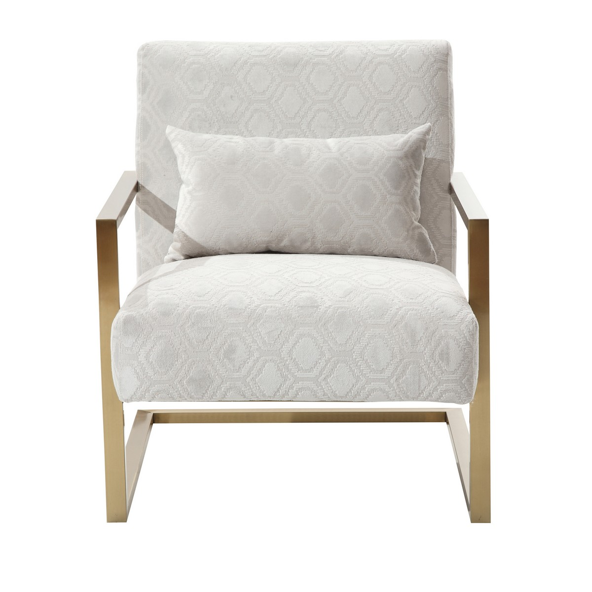 Cream Accent Chair Armen Living Skyline Modern Accent Chair In Cream Chenille