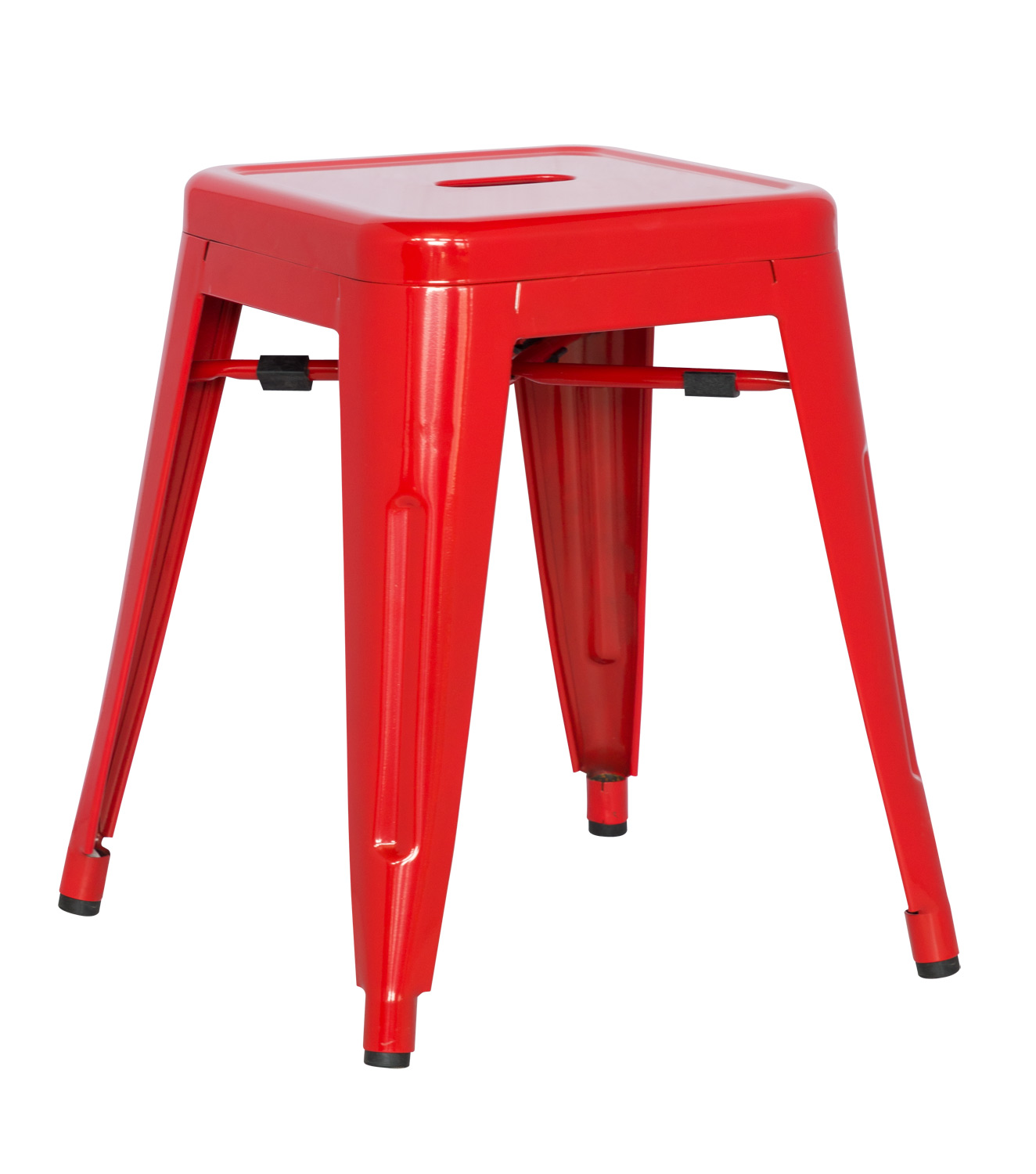 Galvanized Steel Chairs Chintaly Imports 8018 Galvanized Steel Side Chair Red Ci