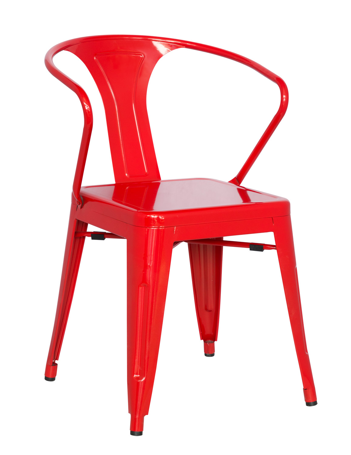 Galvanized Steel Chairs Chintaly Imports 8023 Galvanized Steel Side Chair Red Ci