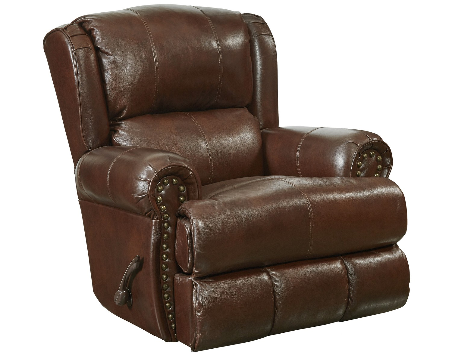 Catnapper Chair Catnapper Duncan Top Grain Leather Touch Deluxe Glider