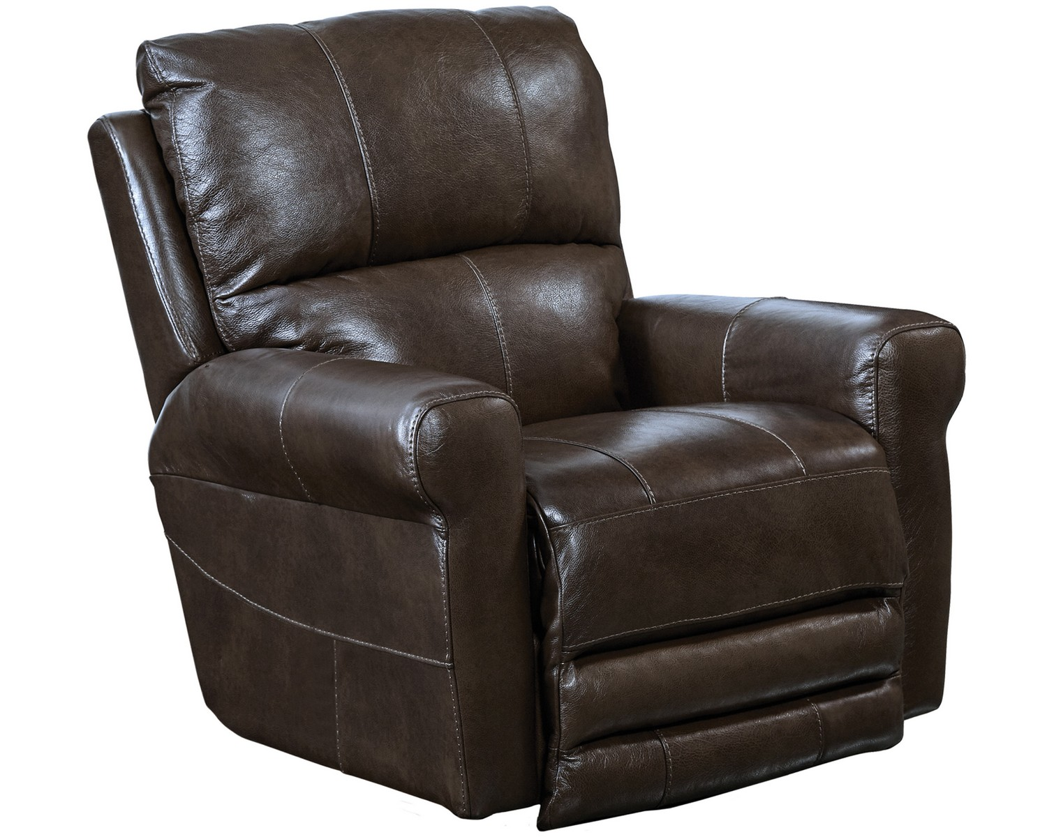 Leather Swivel Recliner Chairs Catnapper Hoffner Top Grain Leather Touch Swivel Glider
