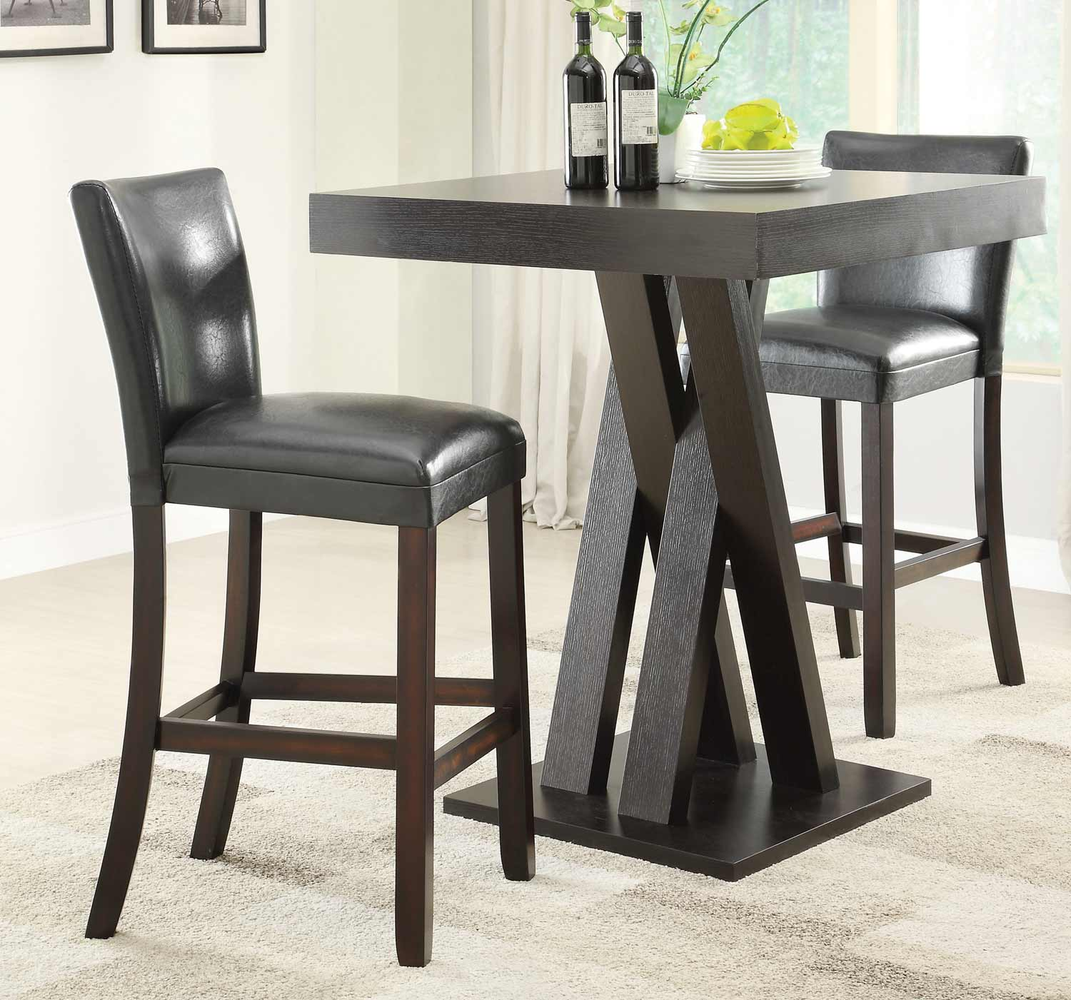 Bar Tables And Chairs Coaster 100520 Bar Table Set Cappuccino 100520 Bar Set
