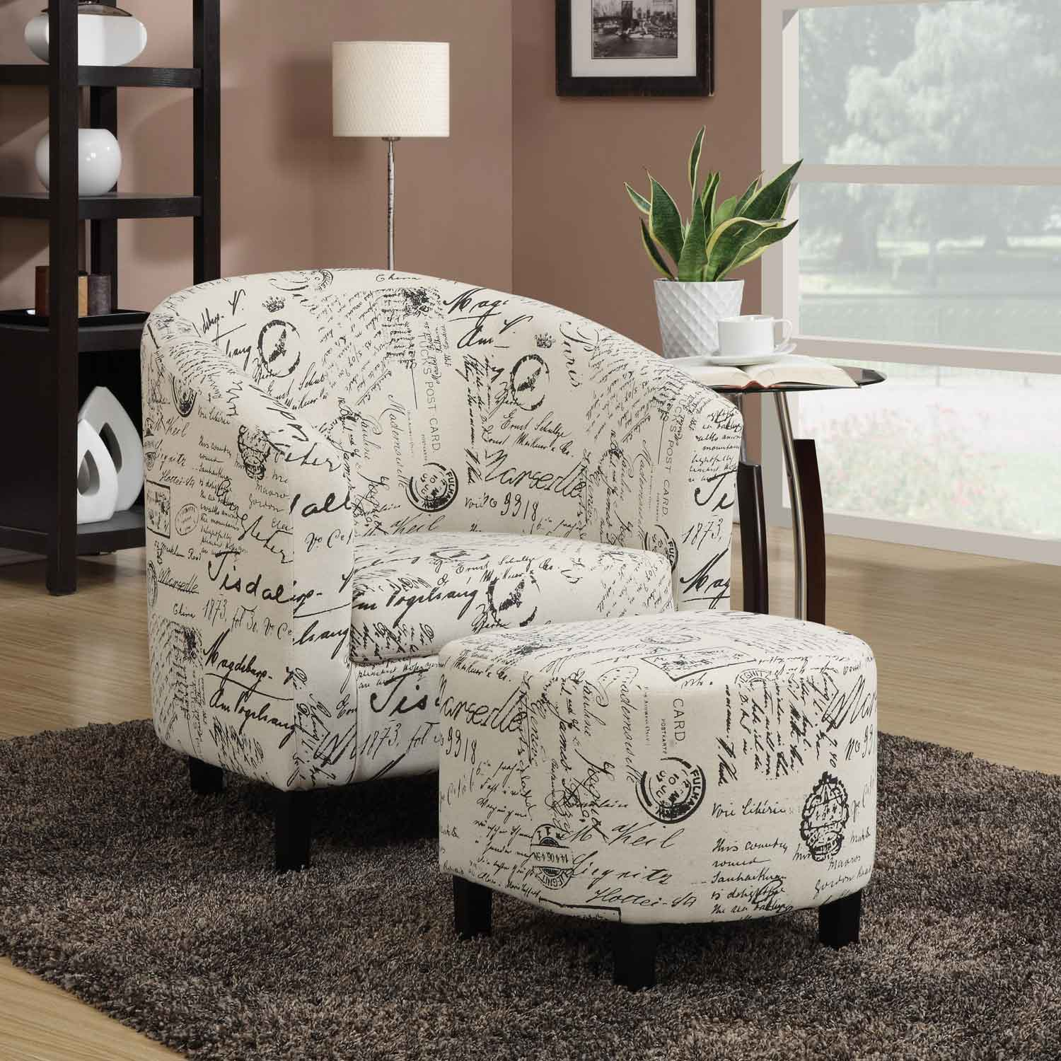 French Script Chair Coaster 900210 Accent Chair 900210 At Homelement