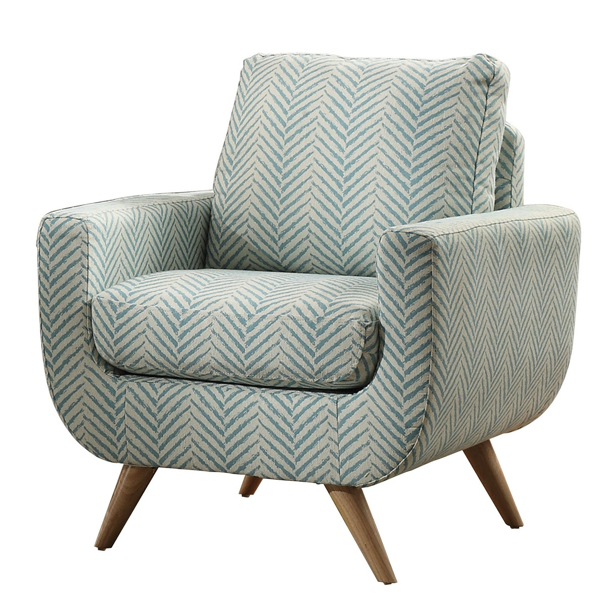 Teal Chair Homelegance Deryn Accent Chair Polyester Teal 8327tl