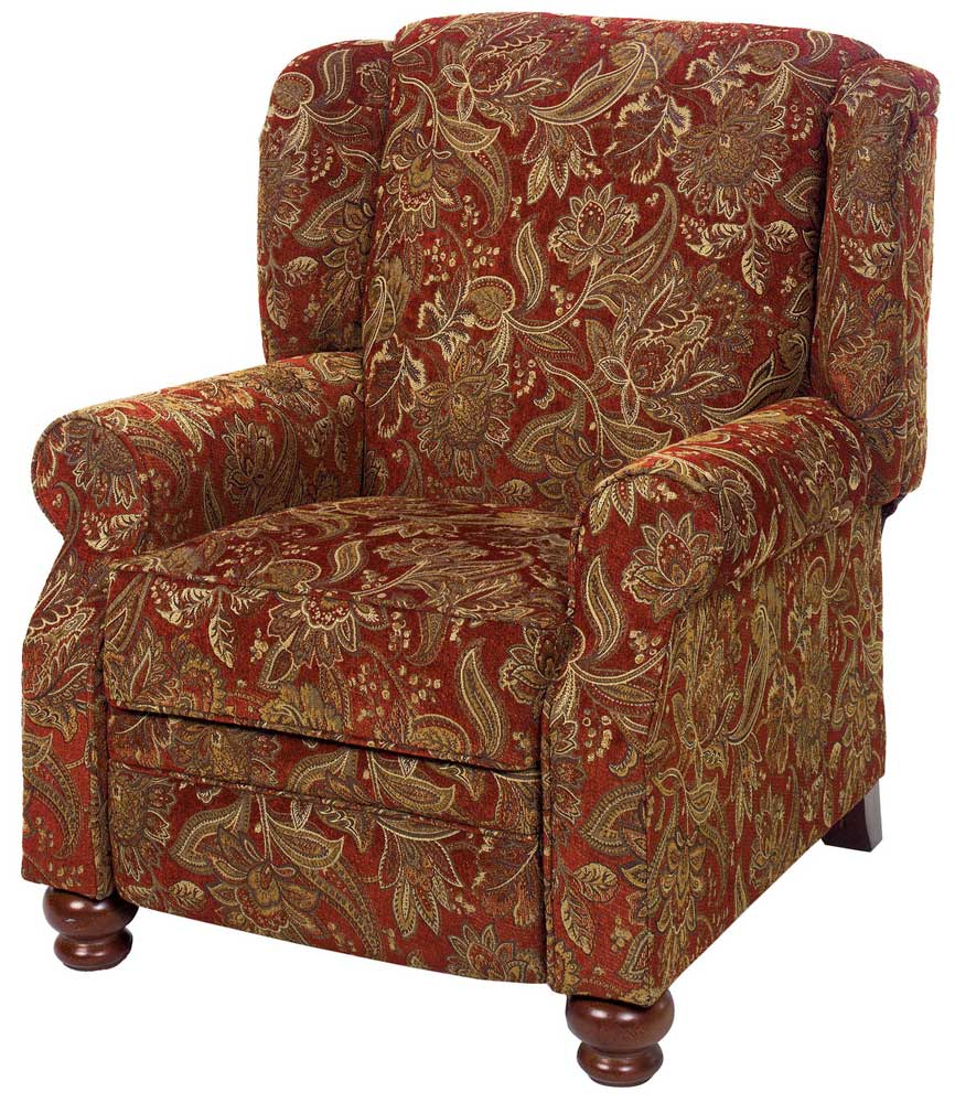 Box Style Seat Cushions Jackson Belmont Reclining Chair - Red 4347-11 | Homelement.com