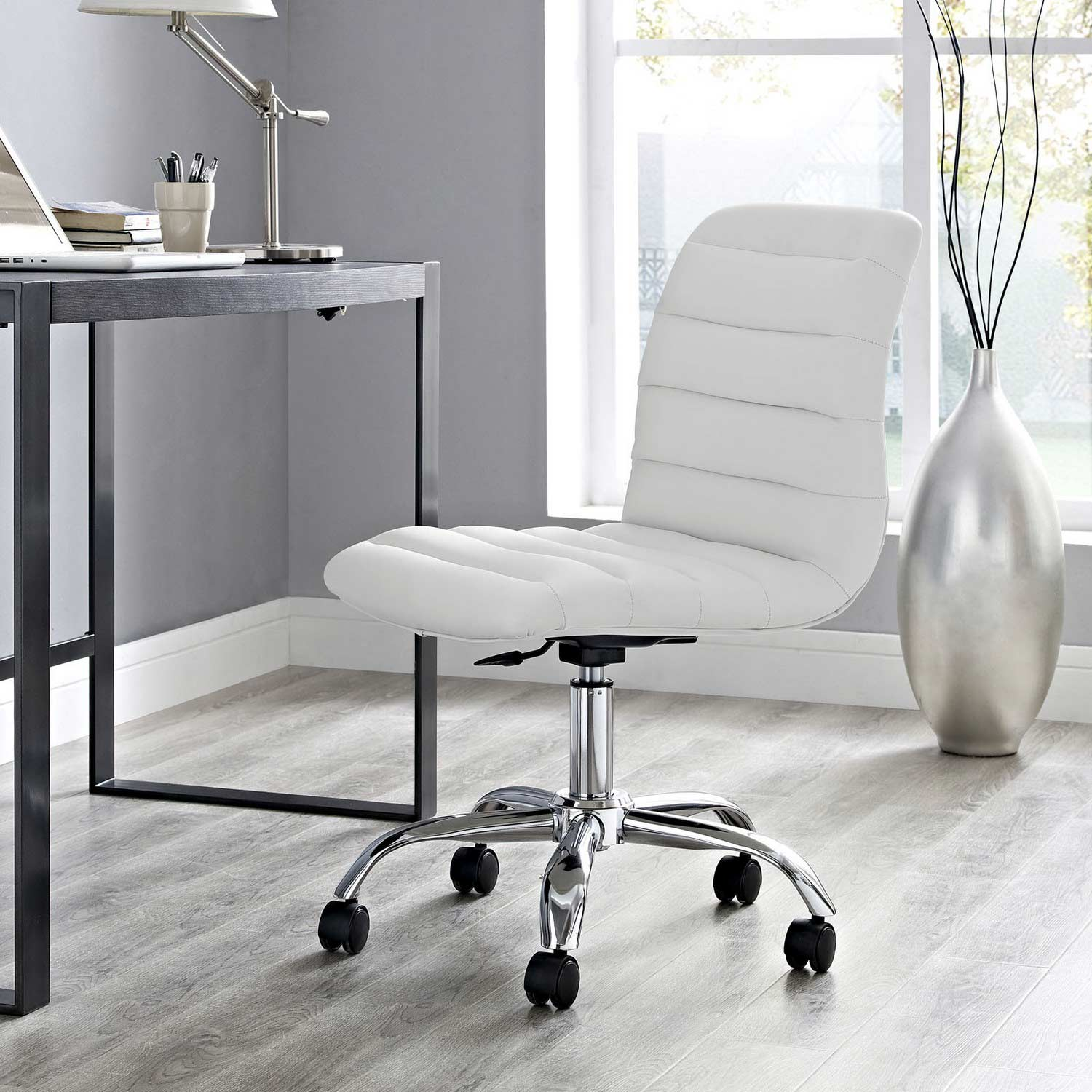 Office Chair White Modway Ripple Armless Mid Back Office Chair White Mw Eei