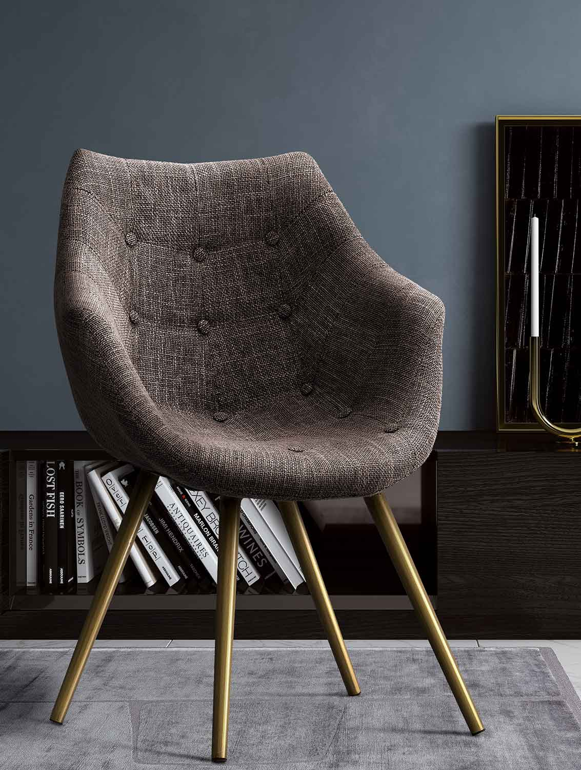 Tweed Chair Tov Furniture Finn Tweed Chair Brown G5457 At Homelement