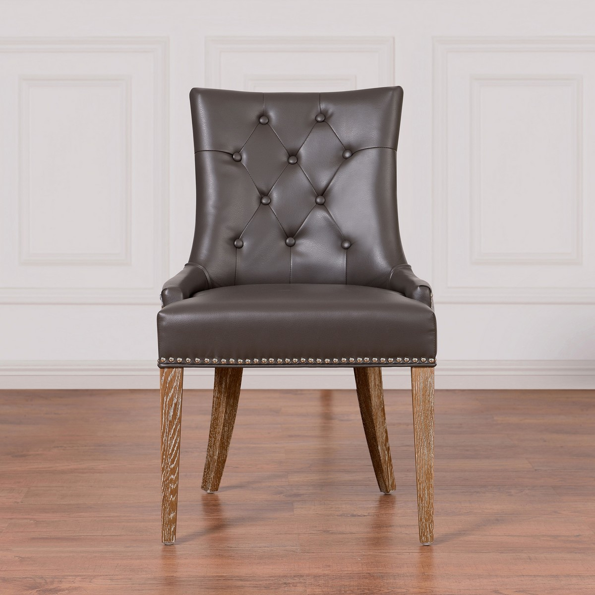 Grey Velvet Dining Chairs Tov Furniture Uptown Grey Leather Velvet Dining Chair Upt