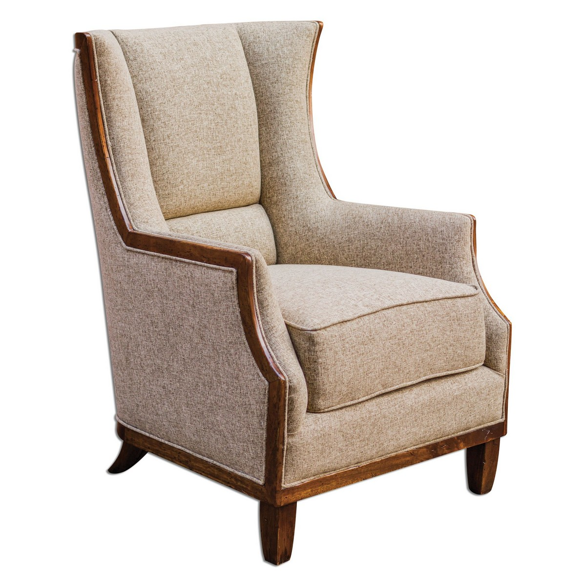Tweed Chair Uttermost Burbank Tweed Wing Chair Uttermost 23613