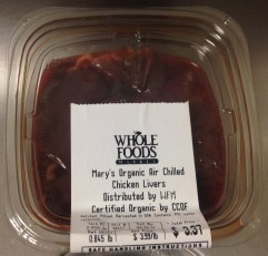 Mary's Organic Air Chilled Chicken Livers