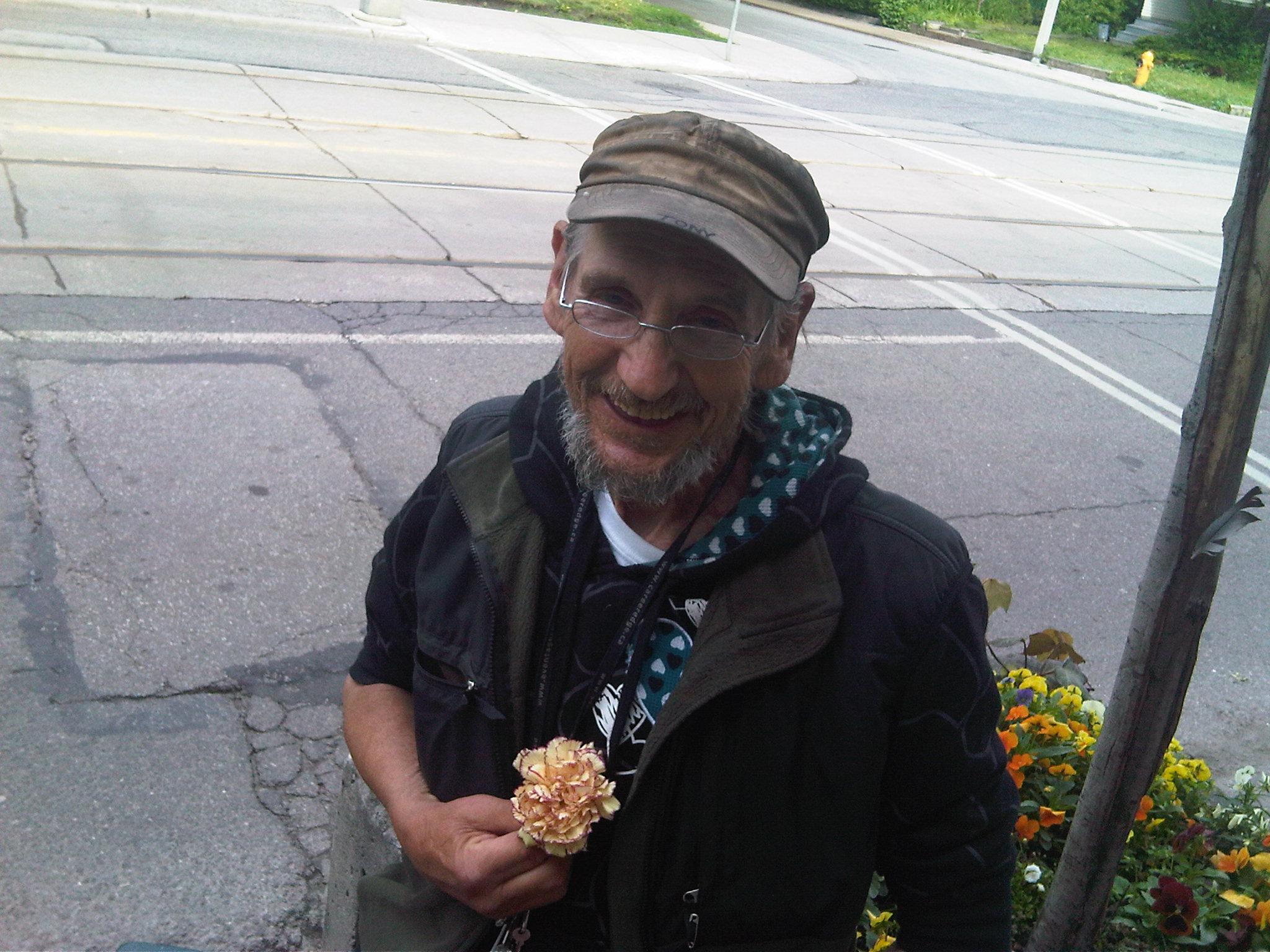 Tony with carnation - June 23 2009