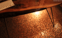 Penny Tile Floors - Using Copper Coins as Mosaic Tiles ...