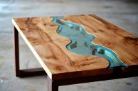 The River Collection: Unique Wood and Glass Tables by Greg