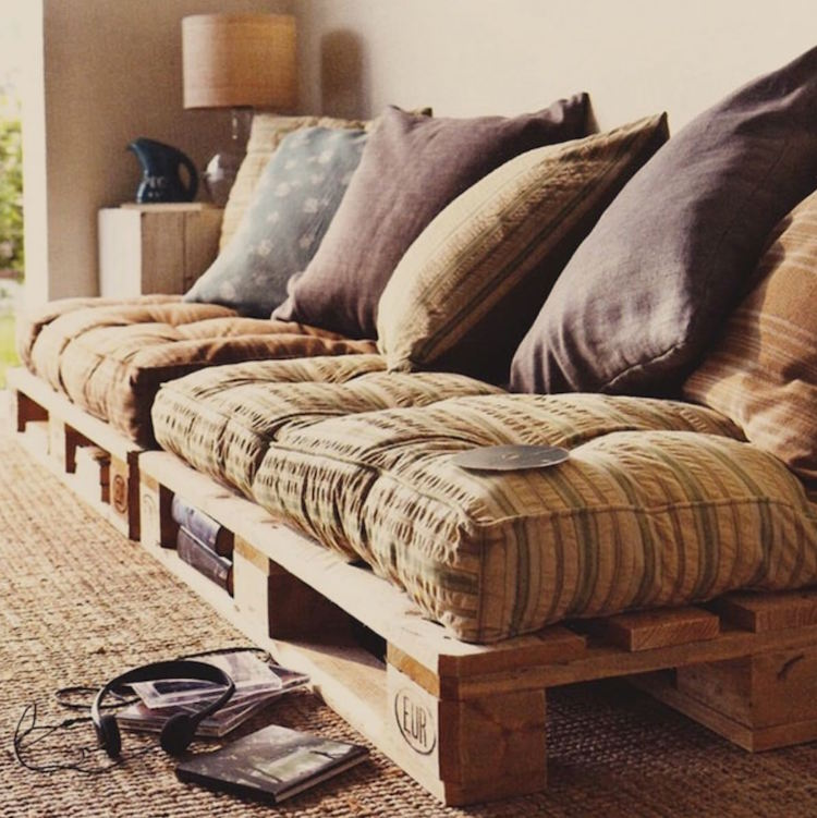 diy sofa from pallets extra deep couch upcycled wood pallet furniture ideas homeli