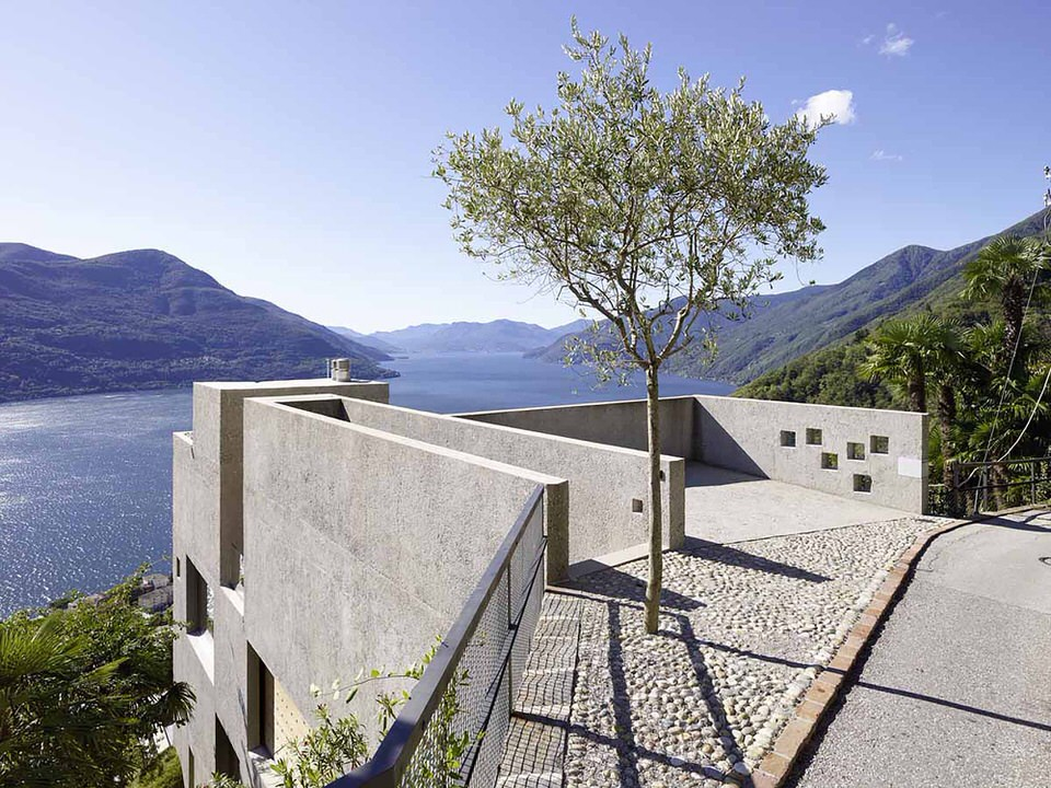Street Entrance to House in Brissago by Wespi de Meuron Romeo Architects