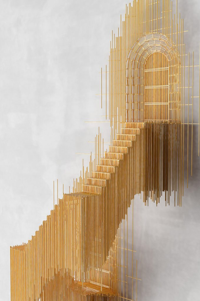 Stairs Stick Sculpture by David Moreno  Homeli