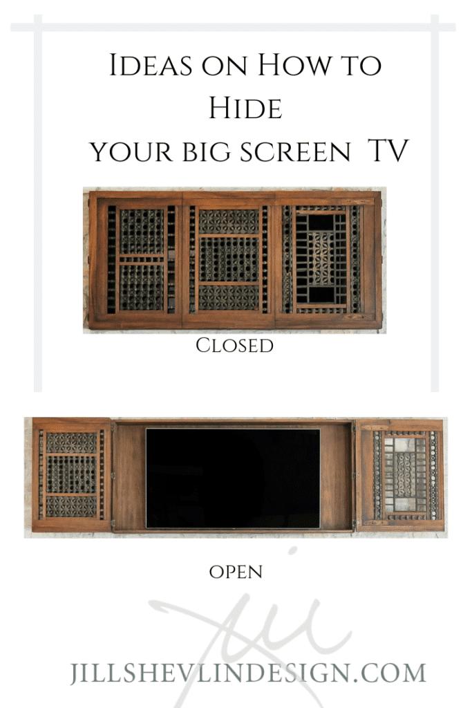 Hide the TV Jill Shevlin Design Vero Beach Interior Designer