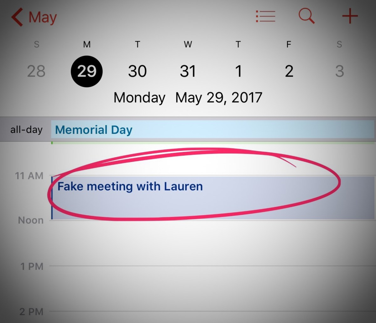 A fake appointment with Lauren